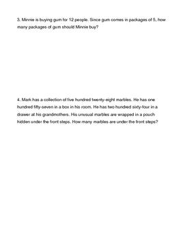 Problem Solving Quick Assessment