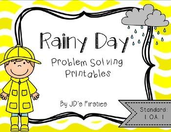 Problem Solving Printables: Rainy Day Edition
