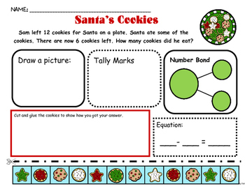 Problem Solving: Reindeer, Cookies, Candy Canes and Gingerbread Men