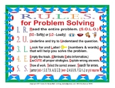 Problem Solving Rules, Key Words for Operations, and Place Value Chart