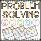 Problem Solving SCOOT! Game, Task Cards or Assessment