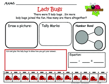 Problem Solving: SPRING - Lady bugs, flowers, rabbits and butterflies