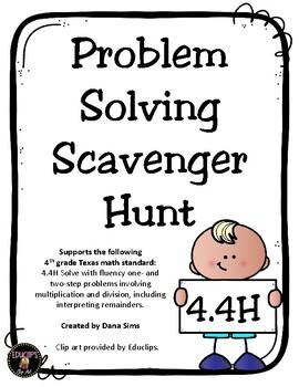 Problem Solving Scavenger Hunt (TEKS 4.4H)