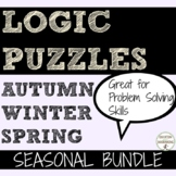 Logic Puzzles Bundle of seasonal logic puzzles for middle school math