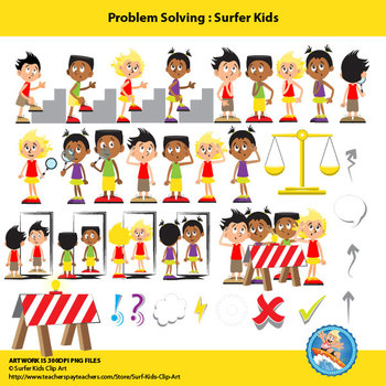 Problem Solving Set with Surfer Kids