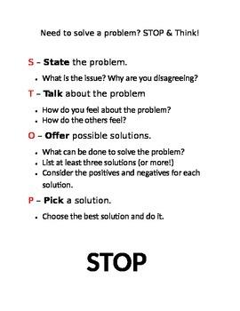 Problem Solving Sheet & Poster