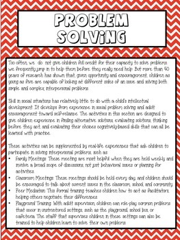 Problem Solving Skills Counseling Lesson Plan