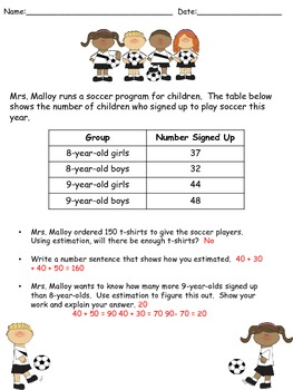 Problem Solving Soccer Theme - FREEBIE!