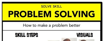 Problem Solving Social Skill Steps Poster - The Empower Program K-2