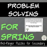Problem Solving Spring Puzzles for Warm-Up, Bell-Ringers, and More!