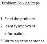 Problem Solving Steps Bookmark
