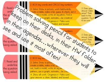 Problem Solving Steps Pencil