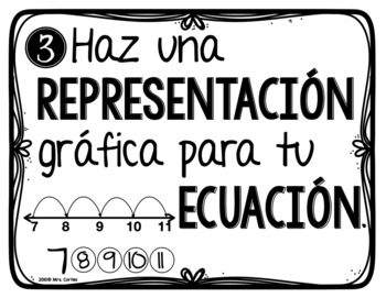 Problem Solving Steps- Spanish