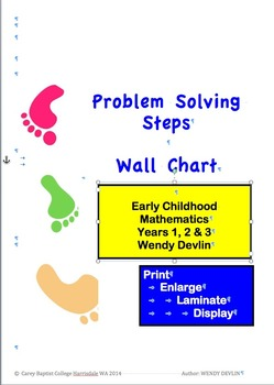 Problem Solving Steps in Mathematics K - 2