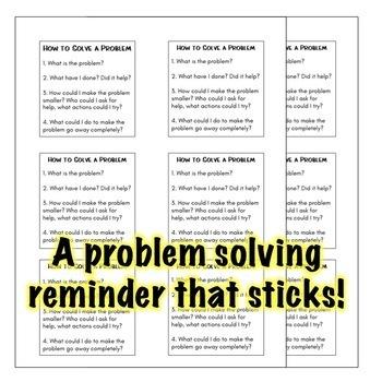 Problem Solving Sticky Note Templates