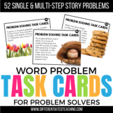52 Problem Solving Task Cards: A Single & Multi-Step Word Problem Activity
