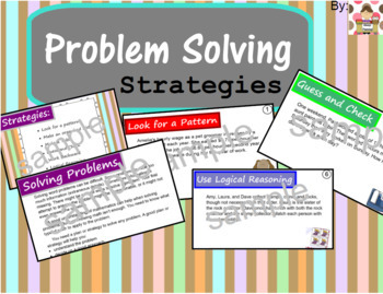 Problem Solving Strategies Booklet for Interactive Notebook