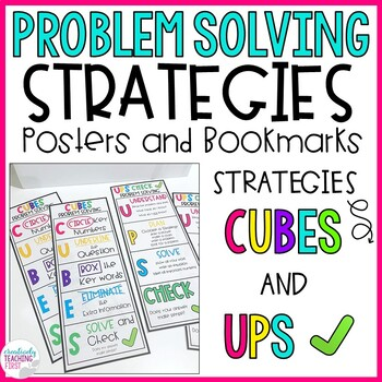 Problem Solving Strategies- CUBES and UPS CHECK