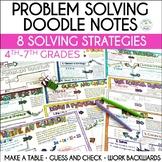 #MonsterMathSale Math Problem Solving Strategies Doodle Notes