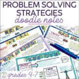 Math Problem Solving Strategies Doodle Notes