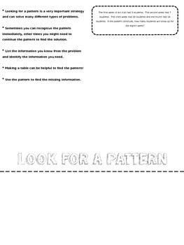 Problem Solving Strategies Flip Chart (Editable)