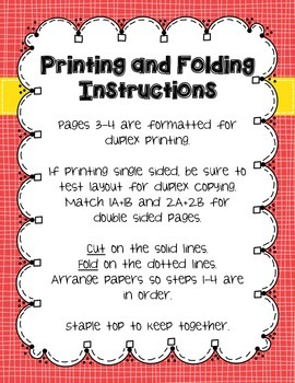 Math Problem Solving Strategies Foldable