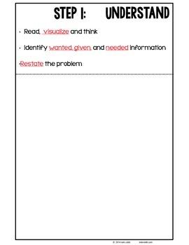 Math Problem Solving Strategies Foldable