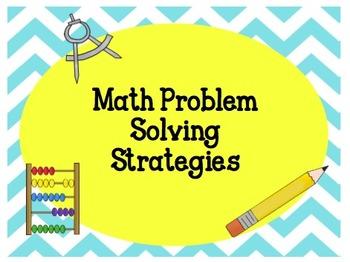Problem Solving Strategies: Grades 3-5  Super Poster Pack!