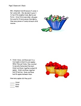 Problem Solving Strategies - Guess and Check