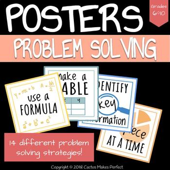 Problem Solving Strategies Inspiration Posters