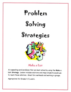 Problem Solving Strategies - Make a List