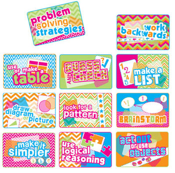 Problem Solving Strategies Posters - Chevron Print