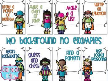 Problem Solving Strategies Posters- Solve it like a Superhero!!
