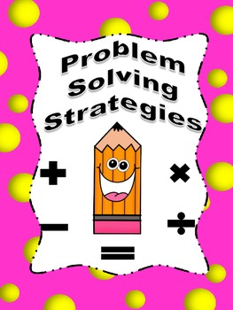Problem Solving Strategies Posters/Booklet with Bubble Border