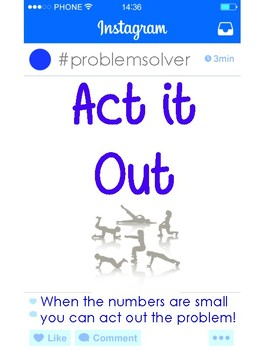 Problem Solving Strategies for Maths - Instagram Theme FREEBIE