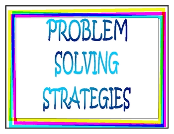 Problem Solving Strategies for Word Problems Posters