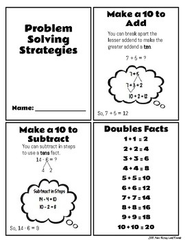 Problem Solving Strategy Cards