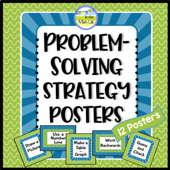 Math Problem-Solving Strategy Posters