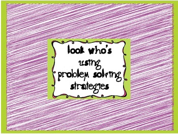 Problem Solving Strategy Posters/Cards Bright Polka Dots