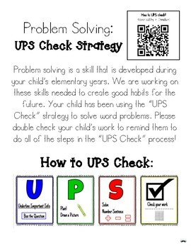 Problem Solving Strategy - UPS Check