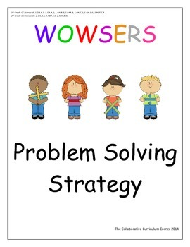 Problem Solving Strategy with Two Step Word Problems