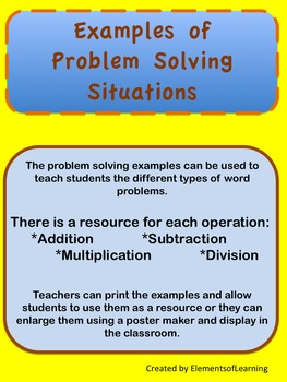 Problem Solving Structures and Situations Resources
