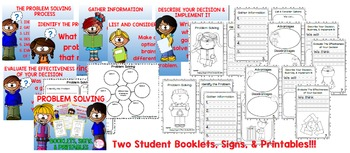 Problem Solving (Student Booklets, Signs, & Printables 1st, 2nd, & 3rd)