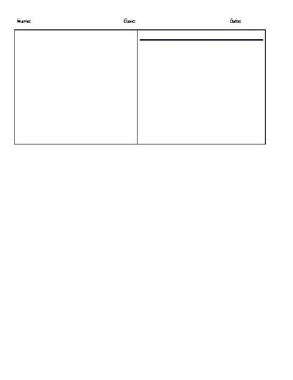 Problem Solving Student Work Template