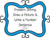 Problem Solving: Subtracting Two-Digit Numbers - First Grade enVision Math