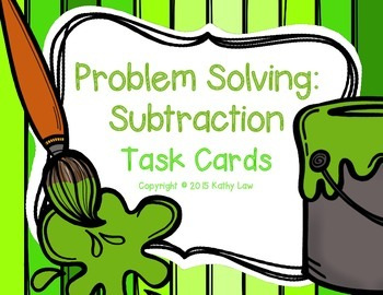 Problem Solving: Subtraction Task Cards
