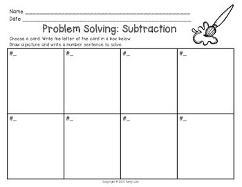 Problem Solving: Subtraction Task Cards