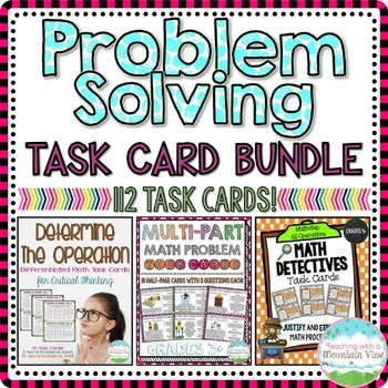 Problem Solving Task Card Bundle