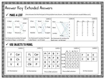 Problem Solving Task Cards: 7 Strategies for Grades 3-4 GOOGLE EDITION
