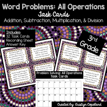 Problem Solving Task Cards- All Operations